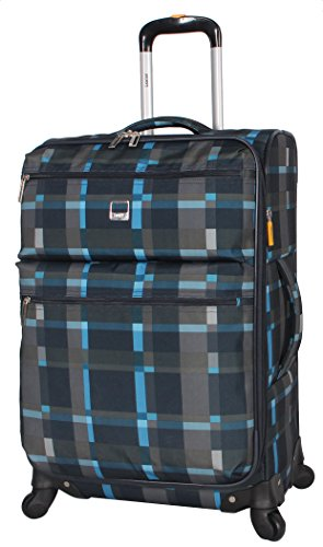 Lucas Ultra Lightweight Carry On - Softside 20 Inch Expandable Luggage - Small Rolling Bag Fits Most Airline Compartments - Durable 4-Spinner Wheels Suitcase (Old School Navy)