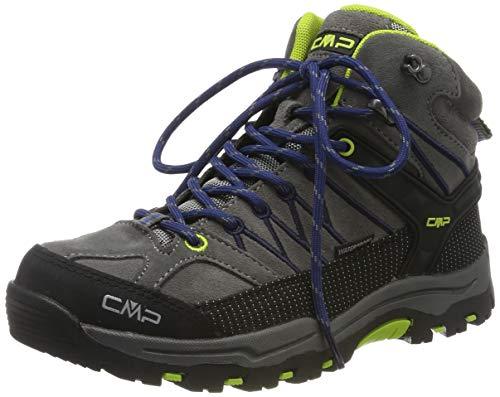 CMP Unisex-Kinder Kids Rigel Mid Shoe Wp Trekking-& Wanderstiefel, Schwarz (Graffite-Marine 35ud), 38 EU