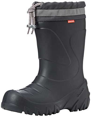 Demar Kids Boys Girls Wellies Wellington Boots Rainy Snow Ultra Light EVA Graphite (30/31 EU)