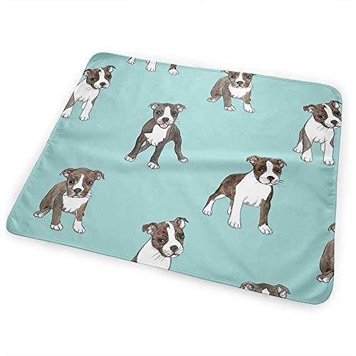 Matelas À Langer Bebe,Matelas À Langer Portatif Imperméable Pour Garçons Et Filles Little Boston Terrier Puppies 50X70Cm
