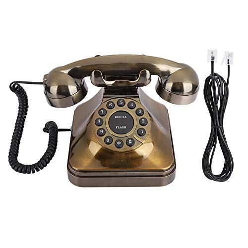 Vintage Vaste Telefoon, Bronzen Antieke Retro Office Desktop Vaste Telefoon Vaste Lijn Met Ruisonderdrukking/nummer Winkel, Ouderwetse Home Decor Klassieke Telefoons