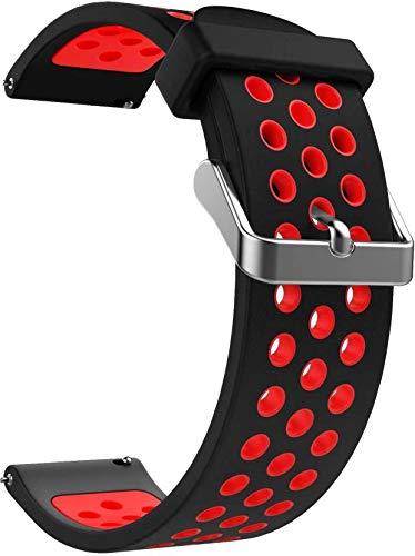 AQFIT Smart Watch W8 Red-Black Strap (Red Black)