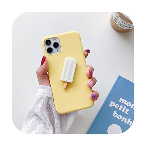 ins 3D Ice Lolly Daisy Funda de silicona suave para iPhone X XR XS 11 Pro MAX 6 S 7 8 Plus SE + para Samsung S10 S9 S8 S20 ULTRA