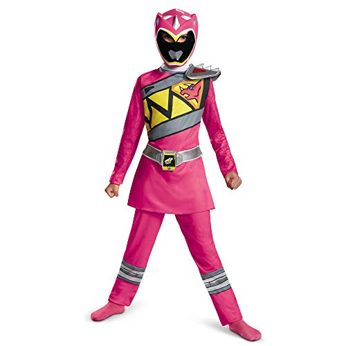 Disguise Pink Power Ranger Dino Charge Classic Costume, Medium (7-8)