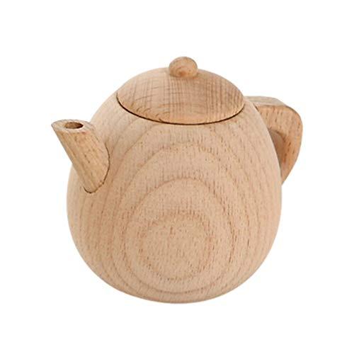 EXCEART Teezeit Holzspielzeug Mini Teekanne Küche So Tun Als Würde Spielzeug Spielzeug Kochutensilien Küche Starter Zubehör DIY Handwerk nach Hause Kinderzimmer Größe S