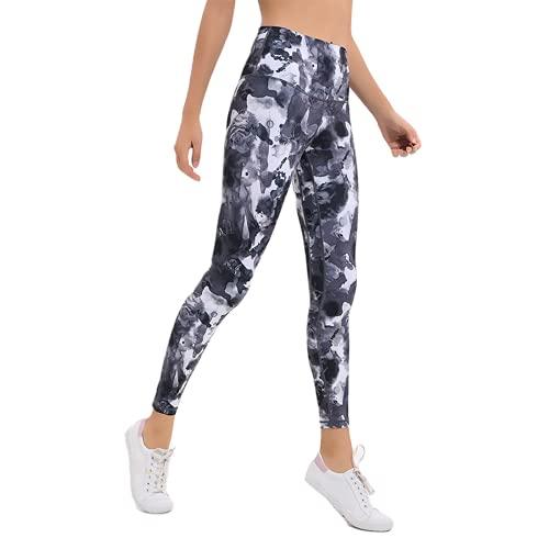 QTJY Leggings de Fitness elásticos Suaves, Cintura Alta, Levantamiento de Cadera, Deportes, Pantalones de Yoga, Flexiones, Entrenamiento en Cuclillas, Pantalones para Correr, B M