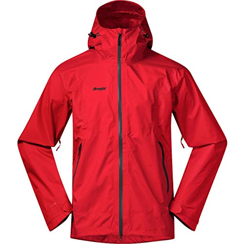 Bergans Herren Letto Jacke, red-solid Charcoal, M