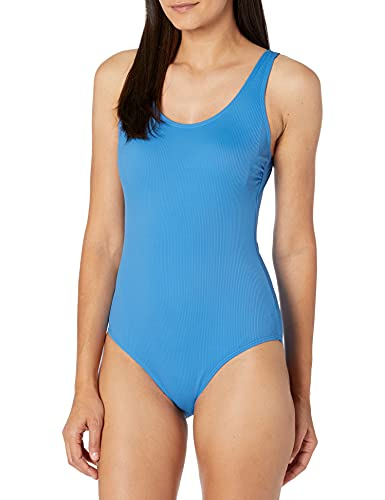 Catalina Women's 1pc One Piece Swimsuit, Blue, Small