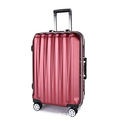 XIANGSHAN Práctico ABS + PC Estuche de Trolley, Bolsa de Equipaje de súper Almacenamiento, Ruedas de Viaje Rolling Boarding, 20'26' Pulgadas (Color : Blue, Size : 20inch)