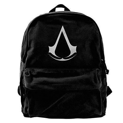Assassin Creed Rucksack aus Segeltuch, für Videospiele, Fitnessstudio, Wandern, Laptop, Schultertasche, Tagesrucksack für Männer und Frauen