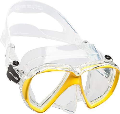 Cressi Ranger Mask Máscara de Buceo, Unisex Adulto, Transparente/Amarillo, Talla Única