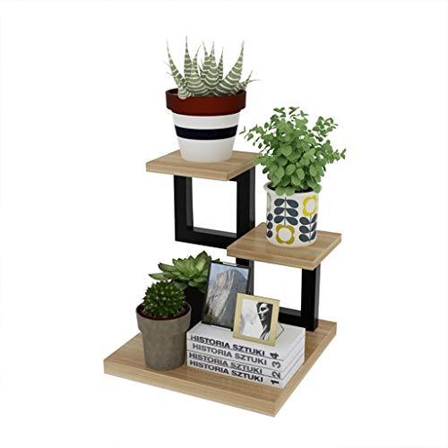 TQJ Soporte de Plantas Escalera para Flores De Escritorio De Metal Planta De Pie Estante para Flores Estantería Interior Oficina con 3 Niveles Soporte de Plantas Balcon