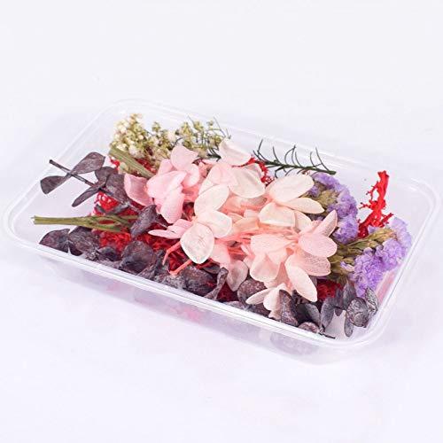 1 caja de flores secas reales para aromaterapia, velas de resina epoxi, colgante de collar de joyería, manualidades, accesorios de bricolaje
