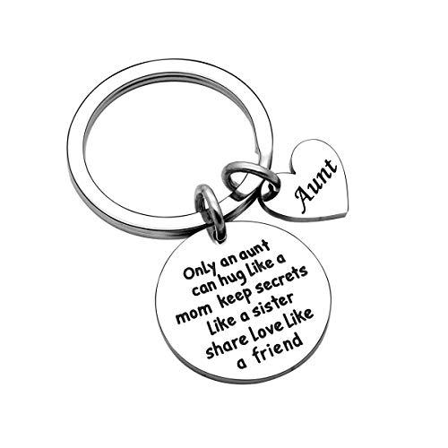 Auntie Gifts Aunty Keyring Keychain Key Ring Christmas Thanksgiving Birthday Gifts