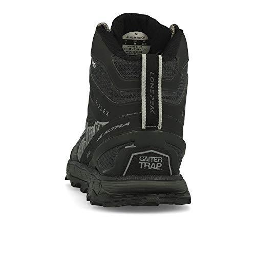 ALTRA Men's ALM1855N Lone Peak 4 Mid RSM Waterproof Trail Running Shoe, Black - 10.5 M US