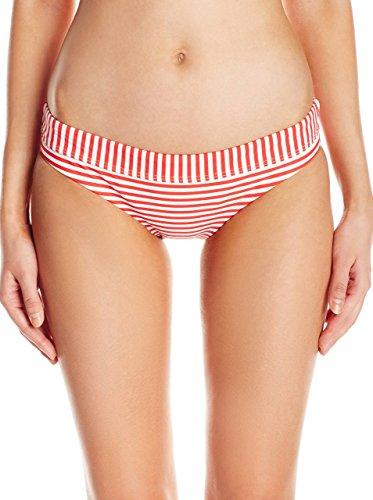 Seafolly Damen Riviera Stripe Hipster Bikinihose, Rot, DE 36 (UK 10)