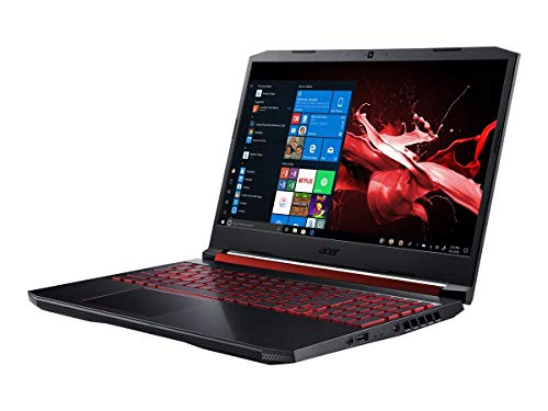 Acer Nitro 5 (AN515-54-526S) 39,6 cm (15,6 Zoll Full-HD IPS 120 Hz matt) Gaming Laptop (Intel Core i5-9300H, 8 GB RAM, 512 GB PCIe SSD, NVIDIA GeForce GTX 1650, Windows 10 Home) schwarz/rot