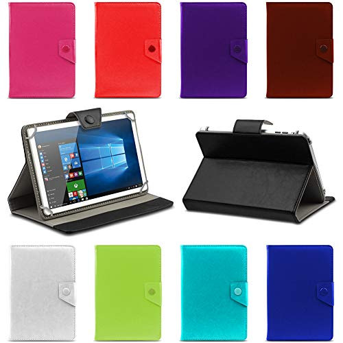 UC-Express Tablet Tasche kompatibel für 10-10.1 Zoll Hülle Schutzhülle Etui Kunstleder Universal Hülle Tablettasche Standfunktion, Farben:Lila, Tablet Modell für:HP Slate 10 HD