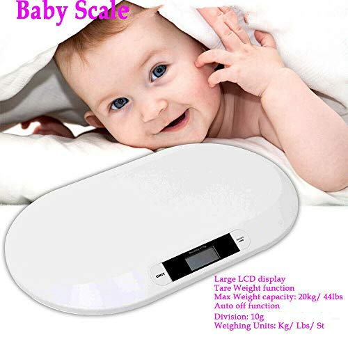 41SYim2BWsL - Smart Weigh Comfort Baby Scale with 3 Weighing Modes