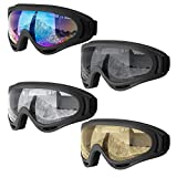 Dapaser 4 Pack Ski Goggles, Snowboard Goggles for Adults Men Women Youth Kids Boys Girls, Soft Motorcycle Atv Winter...