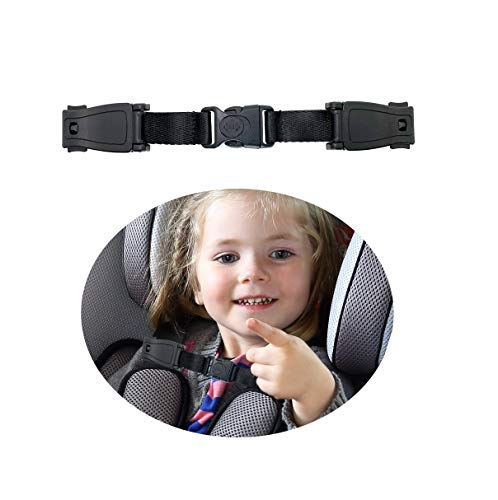 Universal Child Chest Harness Clip Anti-Slip Baby Chest Clip Guard Compatible with Seats, Strollers, High Chairs, schoolbags, max. for 1.5 inch Width Harness.