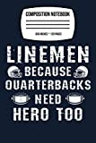 Composition Notebook: Linebacker Footballer - Funny American Football 120 Wide Lined Pages - 6' x 9' - College Ruled Journal Book, Planner, Diary for Women, Men, Teens, and Children