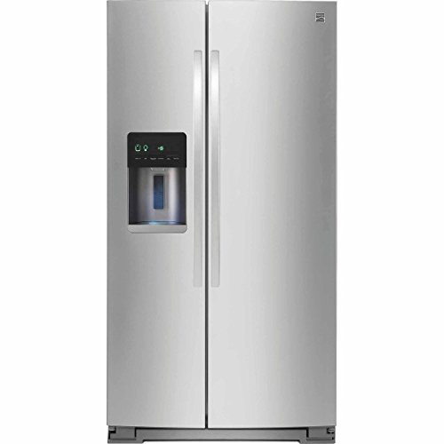 Kenmore 51783 20.6 cu. ft. Counter-Depth Side-by-Side Refrigerator in Stainless Steel