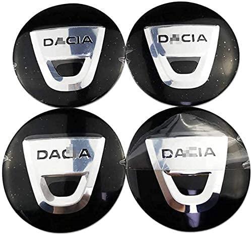 4 Cubiertas Centrales De Llanta para Dacia Duster Logan Sandero, ProteccióN Con Logotipo Prueba Agua Polvo Con Buje Rueda Accesorios Partes