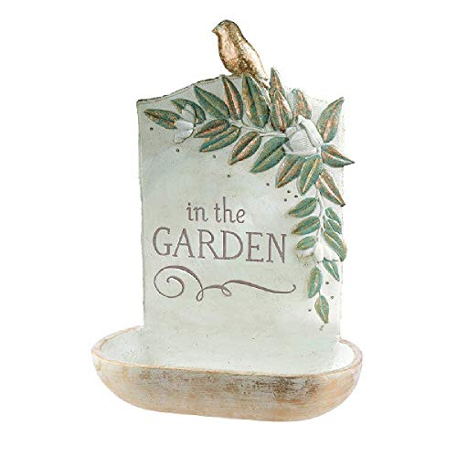 Grasslands Road in The Garden Bird Feeder - Hanging Bird Feeder - Garden Yard Décor, Resin and Gems, 13 7/8 by 8 by 4 1/2 Inches