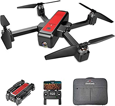 MARSMO WIFI FPV Drone with Full HD 2K Camera, B4W GPS Foldable Drone RC Quadcopter Helicopter for Adults & Beginners with Altitude Hold, 5G Live Video, Brushless Motor, Smart Return from Marsmo