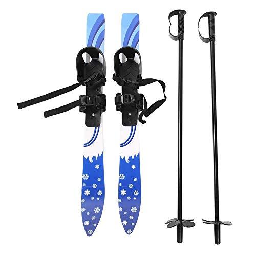 Dioche Mini-ski, 65 cm, voor kinderen en beginners, snowboard met lage weerstand voor kinderen, snowboard en skistokken kit voor kinderen