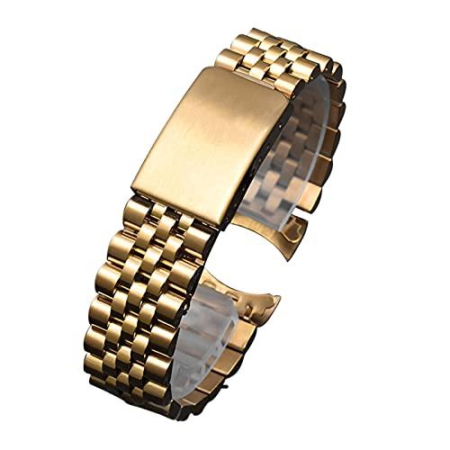 ZXF Correa Reloj, 13 19 20 21 mm 316L Reloj de muñeca de Acero Inoxidable Reloj de Reloj de Reloj Relojamiento rápido Pulsera de Metal Classe Plegable para Mujeres Hombres