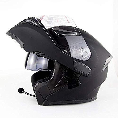 Travel Pillows Cascos modulares Auriculares Bluetooth Incorporados Doble Lente Casco De Estiramiento Facial Casco Modular para Moto De Carreras Off-Road con CertificacióN Dot/ECE