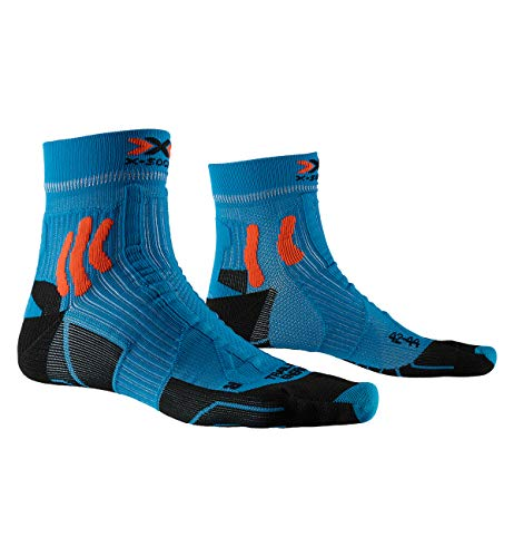 X-Socks Trail Run Energy Socks, Unisex Adulto, Teal Blue/Sunset Orange, 42-44