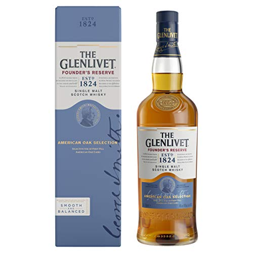 The Glenlivet Founder's Reserve Single Malt Scotch Whisky – Scotch Single Malt Whisky aus der Speyside Region – 1 x 0,7 L