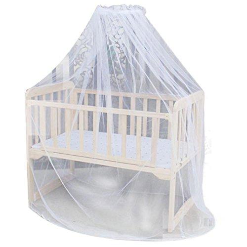 Goosun Babybett Moskitonetz Moskito Mesh Comfort Betthimmel Zelt Babybett Bett Mosquito Net Kuppel Vorhang Überdachung Netz Krippe Kleinkind Insektenschutz Insekten Schutz (Weiß, 160 * 420cm)