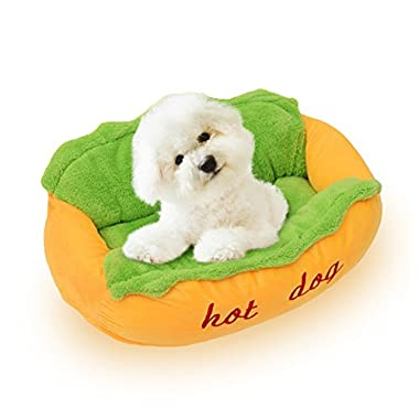 NACOCO Hot Dog Bed Pet Sofa Beds Cat Kennel Washable and Removable Dog House (S)