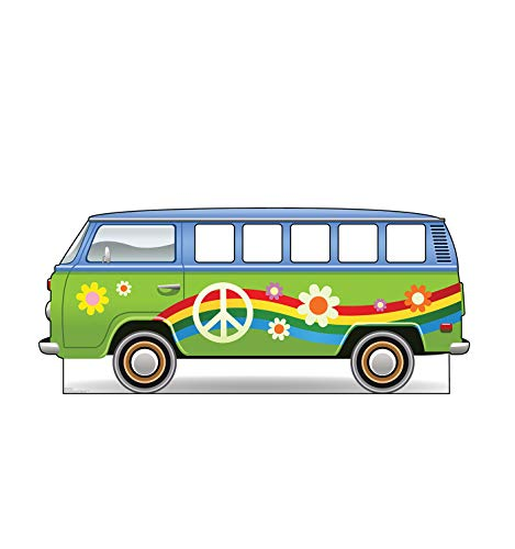 Advanced Graphics Hippie Bus Stand-in Life Size Cardboard Cutout Standup