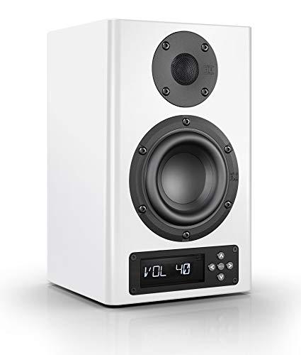Nubert nuPro A-100 Regallautsprecher | Lautsprecher für Musikgenuss | Heimkino & HiFi Qualität auf hohem Niveau | aktive Regalbox mit 2 Wege Technik | digitaler Kompaktlautsprecher Weiß | 1 Stück