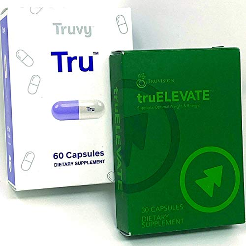 TRUVISION Health - TRUFIX & TRUELEVATE - 30 Day Supply - Replaces Weight & Energy with Formula for More Energy