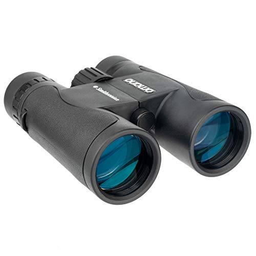 Smithsonian Bird Watching Binoculars for Adults – Binoculars Set w/ 10x42 Binoculars for Bird Watching, Hiking, Travel – Waterproof Binoculars w/Adjustable Diopter – Bird-Watching Guide Included