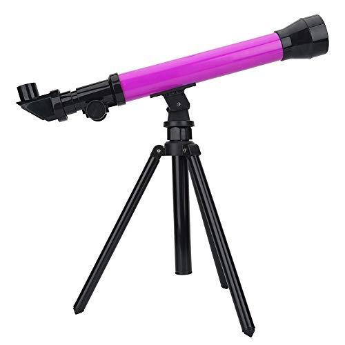 Tragbares Teleskop, Astronomisches Teleskop Spielzeug Monokularraum 20X 40X 60X Vergrößerung Okular mit Stativ, einstellbarem Teleskopwinkel, robustem ABS Material(Lila)