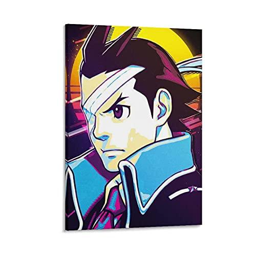 Zhuangzhou Apollo Justice Apollo, Giustizia Ace, Attorney Anime, Poster su tela retrò e stampa artistica da parete, 90 x 60 cm