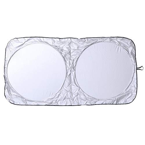 Vosarea Protetor solar para para-brisa de carro, anel duplo, protetor contra raios UV, protetor de sol para carro, bloqueador de sol para viagens ao ar livre