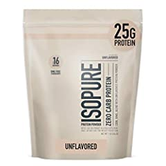 Cook, Bake, Blend with Unflavored Protein Powder Pure, Unflavored, GMO Free, 100% WHEY PROTEIN ISOLATE - a high-quality protein source providing 25g per serving to support muscle building and recovery The easy way to add high-quality protein into you...