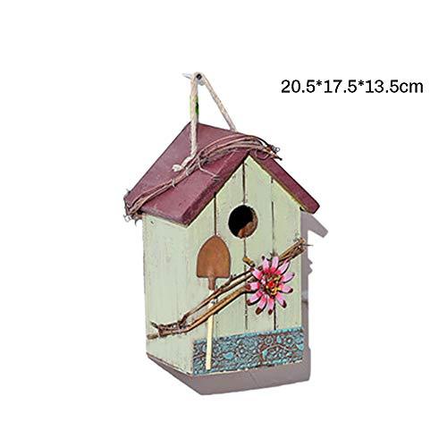 Souarts Nestkast, outdoor, creatief vogelhuis, hout, ventilatie voor huisdieren, papegaai, vogels, ophangbaar, tuindecoraties