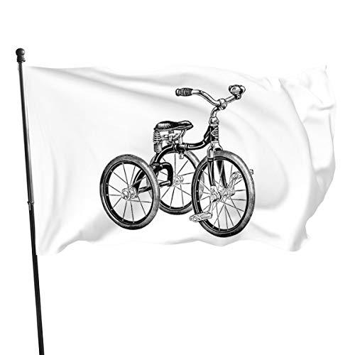 Generic Brands - Banderas de triciclo antiguo (3,81 m)
