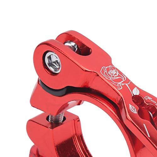 Semiter Abrazadera de Asiento de Bicicleta, aleación de Aluminio del Clip de la tija de sillín de la Bicicleta para Las Tiendas de Bicicletas(Red)