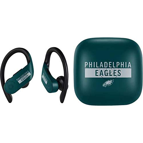 Skinit Decal Audio Skin Compatible with PowerBeats Pro - Officially Licensed NFL Philadelphia Eagles Green Performance Series Design