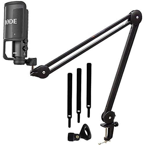 Rode NT-USB - Microfono a condensatore + supporto microfono Keepdrum MS138